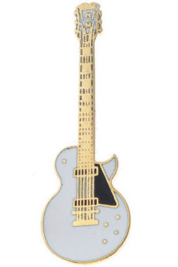 View larger image of Guitar Pin - Custom Single-Cut Electric Guitar, White