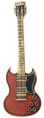 View larger image of Guitar Pin - Double-Cut, Red