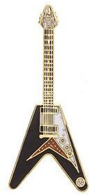 View larger image of Guitar Pin - V-Style, Black