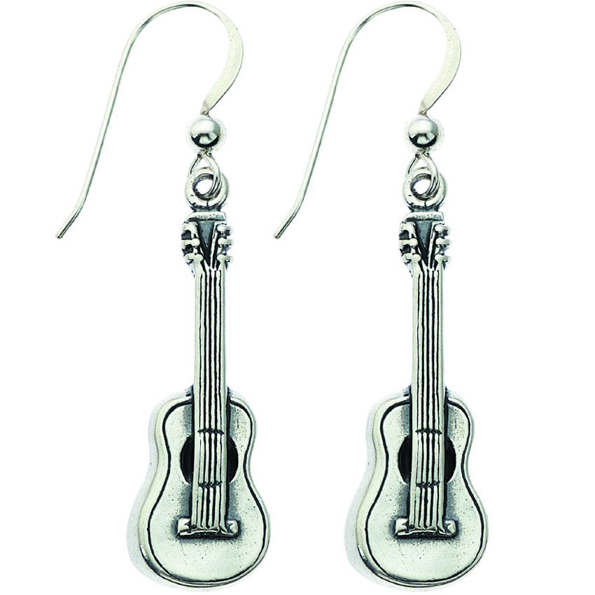 View larger image of Guitar Sterling Silver Earrings