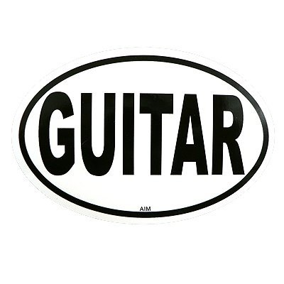 View larger image of Guitar Sticker - Oval