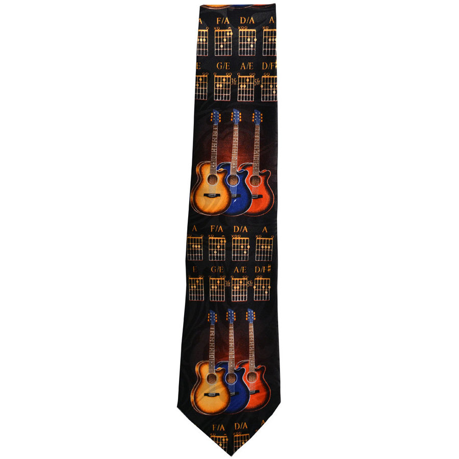 View larger image of Guitars and Chords Tie