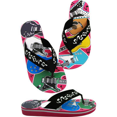 View larger image of Guitars Flip Flops - Small