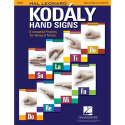 Hal Leonard Kodály Hand Signs - 8 Poster Set