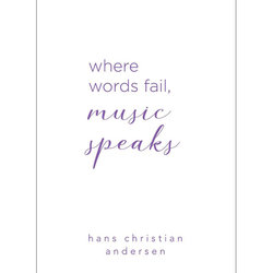Hans Christian Andersen Quote Greeting Card