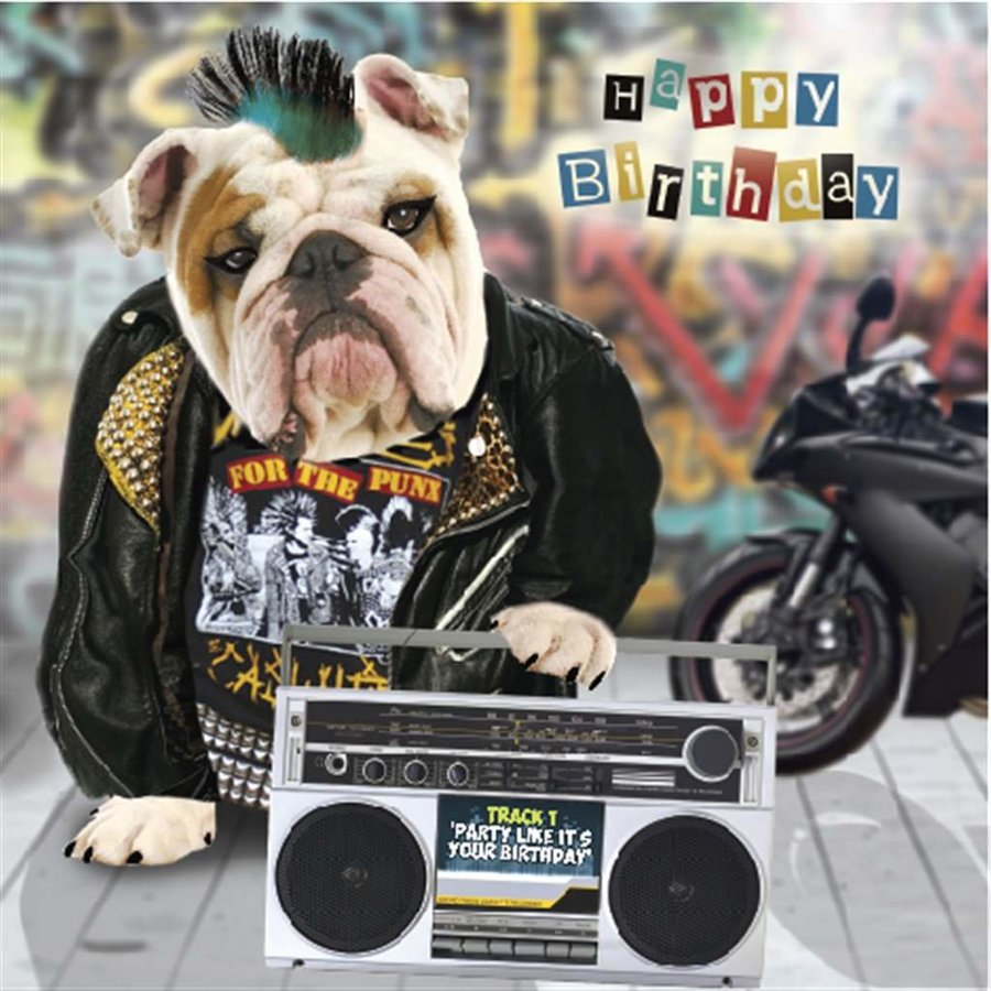 View larger image of Happy Birthday Card - Pop 3D Pug