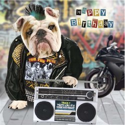 Happy Birthday Card - Pop 3D Pug