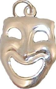 View larger image of Happy Comedy Face Sterling Silver Charm - Large