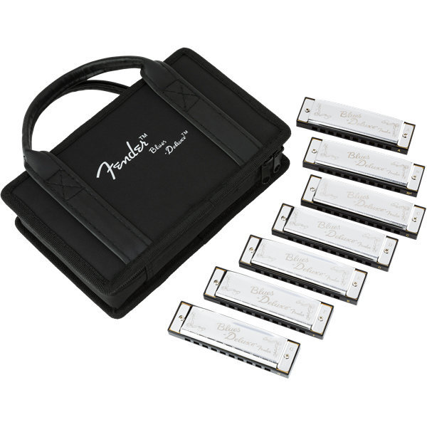 View larger image of Fender Blues Deluxe Harmonica - 7 Pack