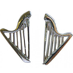 Harp Sterling Silver Earrings