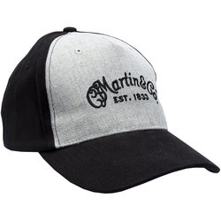 Martin Fitted Cap - Large/XL,Black/Gray