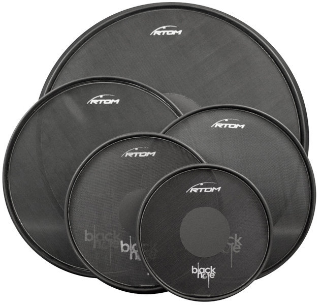 """View larger image of RTOM Black Hole Low-Volume Drum Head Combo Pack - 10""""/12""""/14""""/16""""/22"""""""