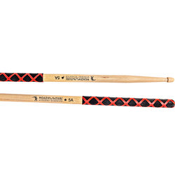 HeadHunters Hickory Classics 5A Extreme Grip Drumsticks