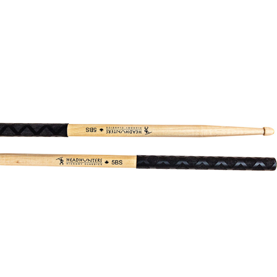View larger image of HeadHunters Hickory Classics 5BS Grip Drumsticks