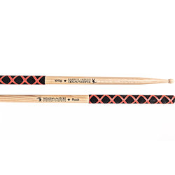 HeadHunters Hickory Classics Rock Extreme Grip Drumsticks