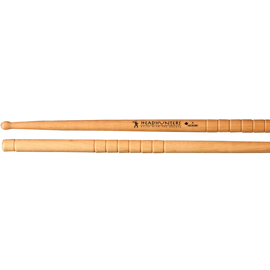 View larger image of HeadHunters Hickory Grooves A Grip Drumsticks