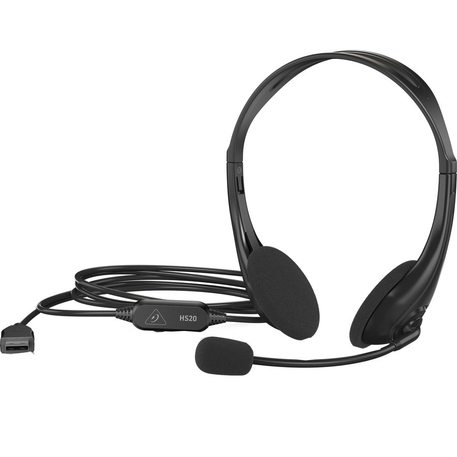 View larger image of Behringer HS20 USB Stereo Headset with Swivel Microphone