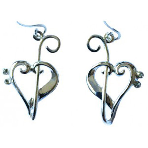 View larger image of Heart Of Clefs Earrings