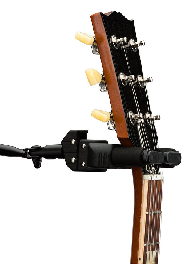 View larger image of Hercules Auto Grip System Guitar Hanger - Pegboard Mount and Long Arm