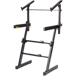 Hercules Autolock Z-Keyboard Stand with Tier