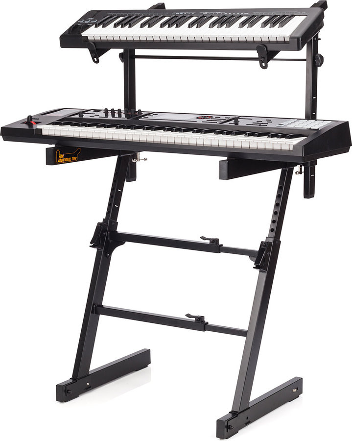 View larger image of Hercules Autolock Z-Keyboard Stand with Tier