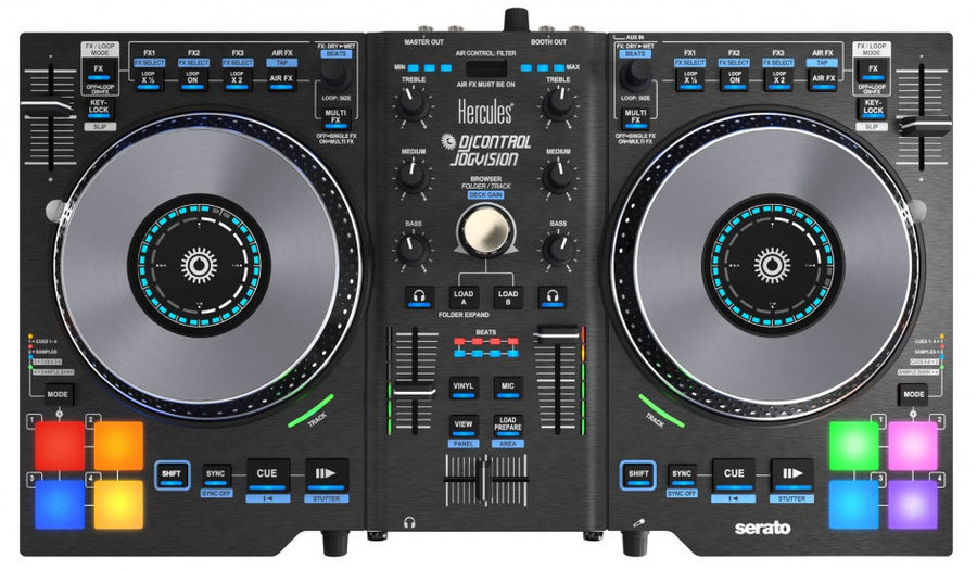 View larger image of Hercules DJControl Jogvision Performance DJ Controller with In-Jog Displays