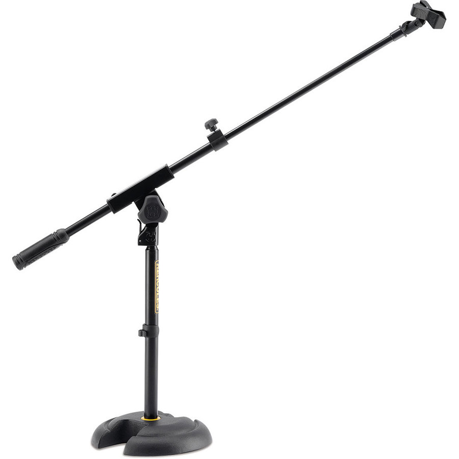 View larger image of Hercules Low Profile H Base Mic Stand with Boom and Mic Clip