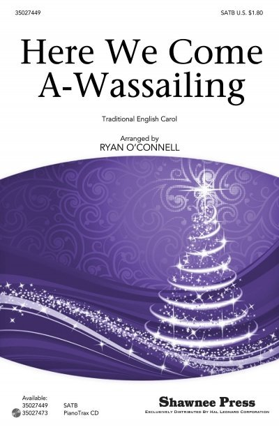 View larger image of Here We Come A-Wassailing, SATB Parts
