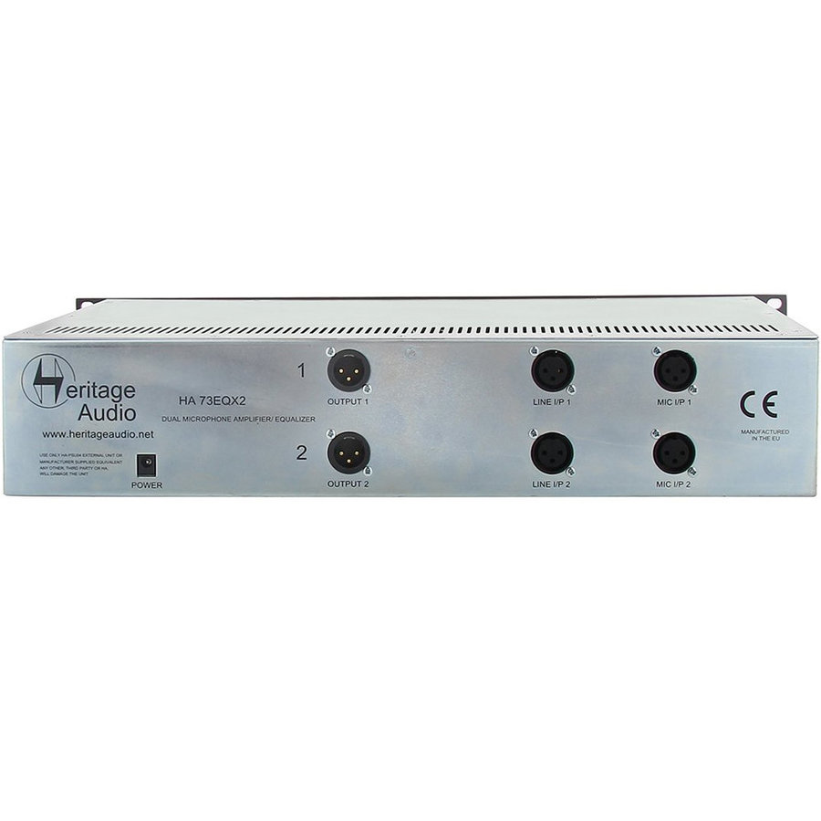 View larger image of Heritage Audio HA73EQX2 Elite Dual Channel Microphone Preamp