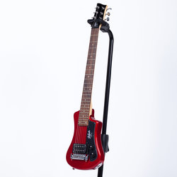 Hofner Shorty Electric Travel Guitar - Red