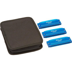 Hohner Blue Ice Harmonica Set - Keys C D G