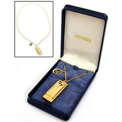 Hohner Little Lady Mini Diatonic Harmonica Necklace - Key of C, Gold