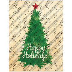 Holiday Cards with Christmas Tree - 8 Pack