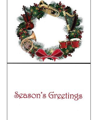 View larger image of Holiday Cards with Instrument Wreath - 8 Pack