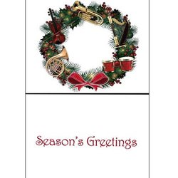 Holiday Cards with Instrument Wreath - 8 Pack