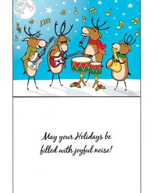 View larger image of Holiday Cards with Musical Reindeers - 8 Pack