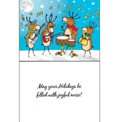 Holiday Cards with Musical Reindeers - 8 Pack