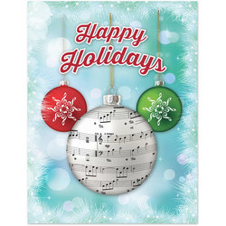 Holiday Cards with Ornaments - 8 Pack
