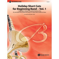 Holiday Short Cuts For Beginning Band Vol.1 - Score & Parts Gr.1