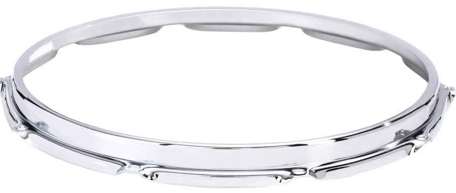 """View larger image of S-Hoop 10-Hole Snare Batter Drum Hoop - 14"""", Chrome"""