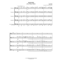 Hornpipe from Water Music - Trombone Quintet