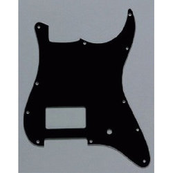 Humbucker Pickguard for Stratocaster - Black