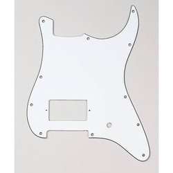 Humbucker Pickguard for Stratocaster - White