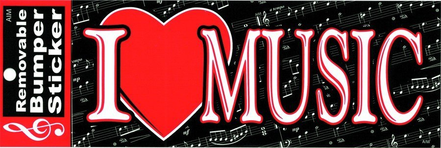 View larger image of I Heart Music Bumper Sticker