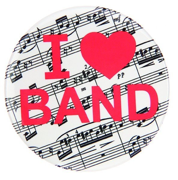 View larger image of I Love Band Metal Magnet