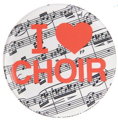 View larger image of I Love Choir Metal Magnet