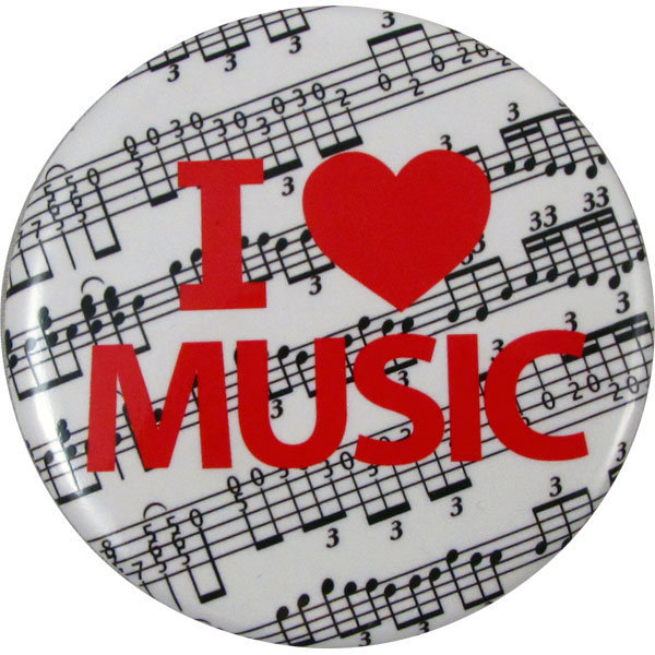 View larger image of I Love Music Button