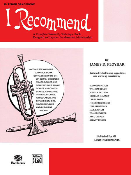 View larger image of I Recommend - Tenor Sax