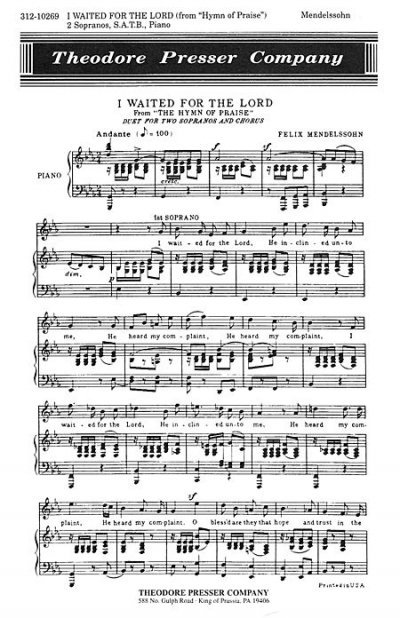 View larger image of I Waited For The Lord,SATB Parts