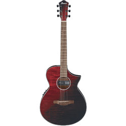 Ibanez AEWC32FM Acoustic-Electric Guitar - Red Sunset Fade